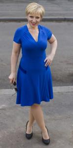 Modré šaty 1